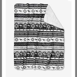 NEW VS pinK Sherpa blanket throw plush warm